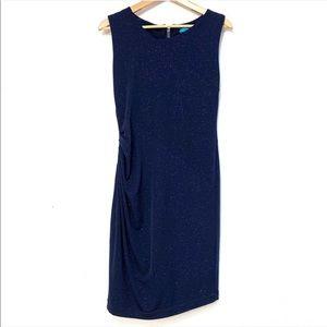 Alice + Olivia Sparkle Shimmer Ruched Dress C86